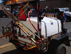 200 Gallon Weed Spray Trailer with Folding Boom