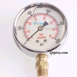 1000 PSI Pressure Gauge Liquid Filled