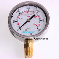 600 PSI Pressure Gauge - Liquid Filled