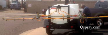 500 Gallon Weed Trailer with Folding Boom