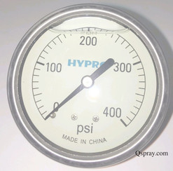 Pressure Gauge 400 PSI - Liquid Filled