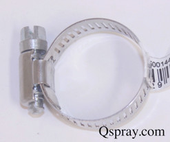 Worm gear hose clamp - stainless steel