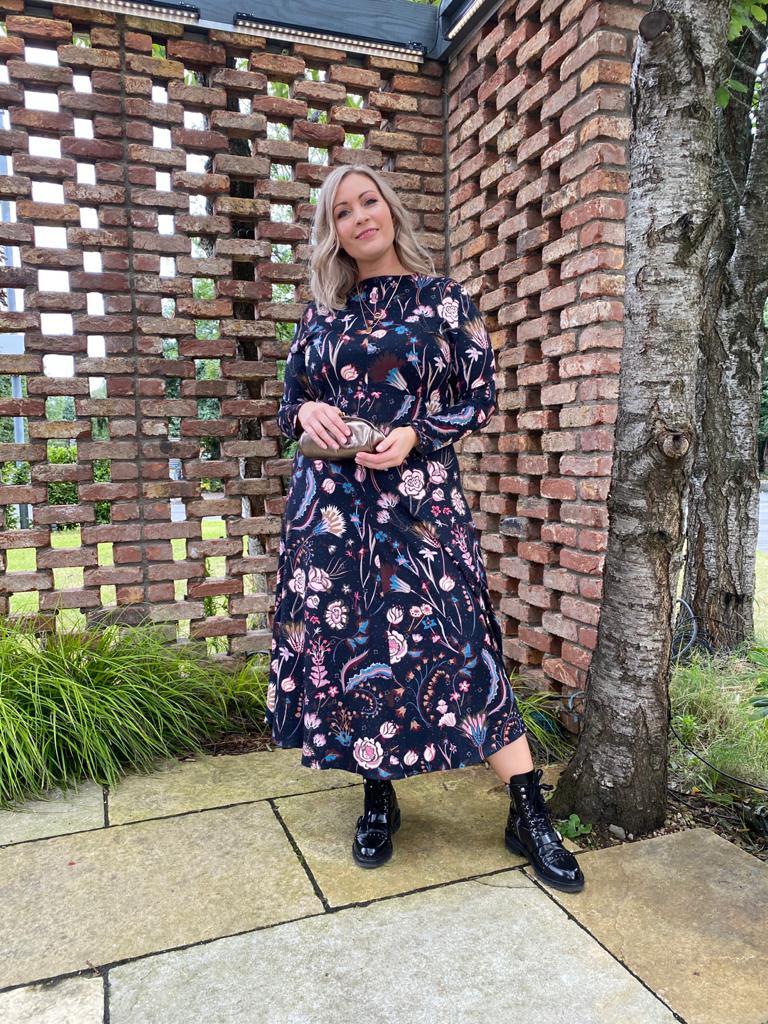 Caroline Kilkenny Mira Flower Print Dress