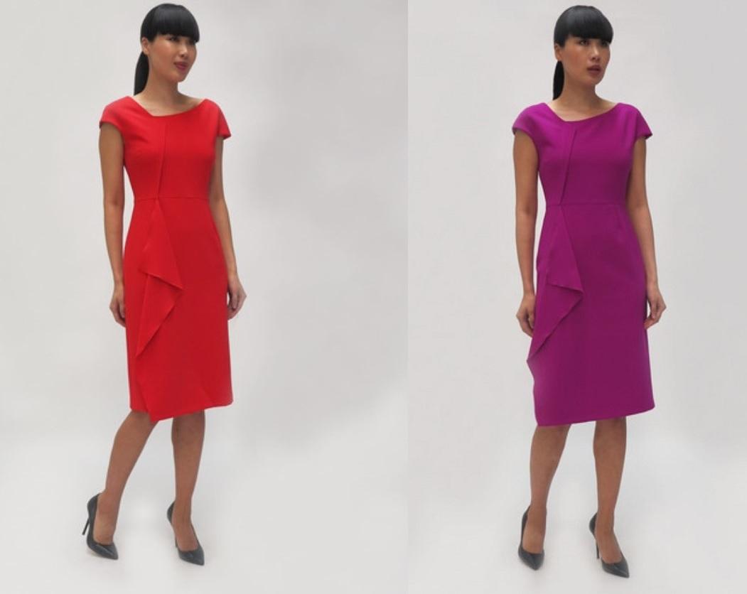 Fee G Hannah Dress in Magenta & Red