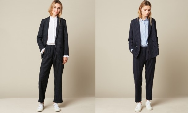 Hartford Woven Navy Jacket and Pants