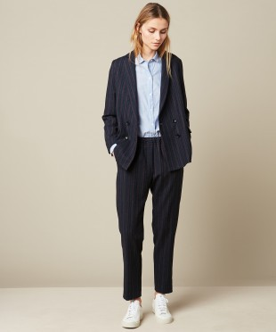 Hartford Valette Woven Navy Jacket and Pants