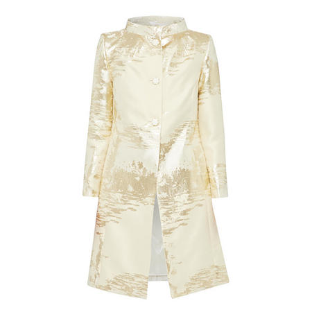 Fee G Lurex Gold Textured Coat