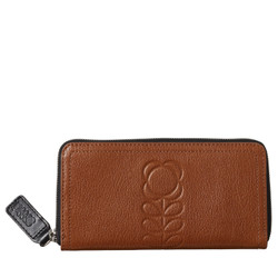 Orla Kiely Leather Hazel Big Zip Wallet