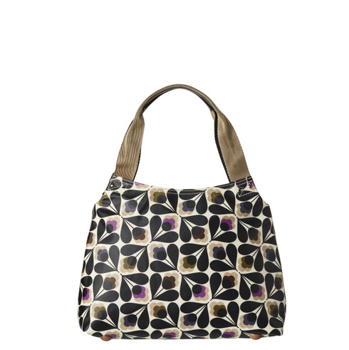 Orla Kiely Classic Zip Shoulder Bag Sycamore Seed print