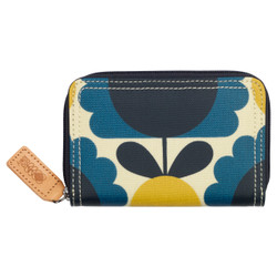 Orla Kiely Medium Zip Wallet Denim