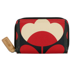 Oral Kiely Medium Zip Wallet Red