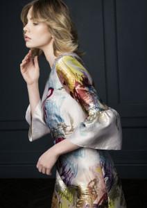 Fee G Printed Dress With Flared Cuff