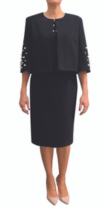 Fee G Navy Cape With Pearl Detail