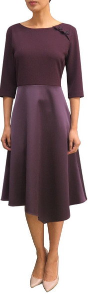 Fee G Plum Full Skirt Dress