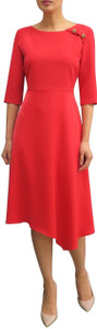 Fee G Red Full Skirt Dress