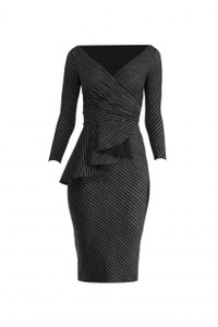 Chiara Boni Ariane Pinstripe Dress