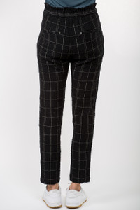 Transit ParSuch Black Check Trousers