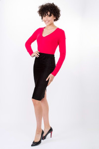 Transit Par Such Pencil Skirt Black