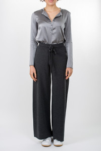 Transit Slouchy Trousers with Grey Silk Shirt