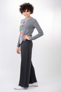 Sportmax Code Fiordo Sweater with Grey Slouchy Trousers