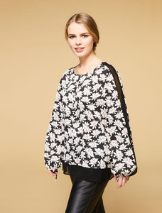 Persona Benny Black Printed Blouse