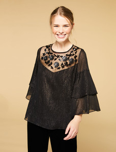Persona by Marina Rinaldi Final Black Blouse