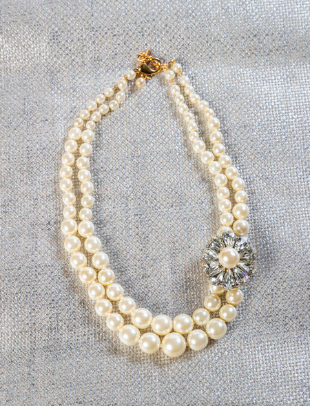 Pat Whyte Double Strand Cream Pearl Necklace