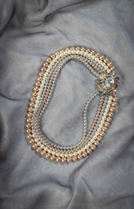 Pat Whyte Multi Coloured 5 Strand Pearl Necklace