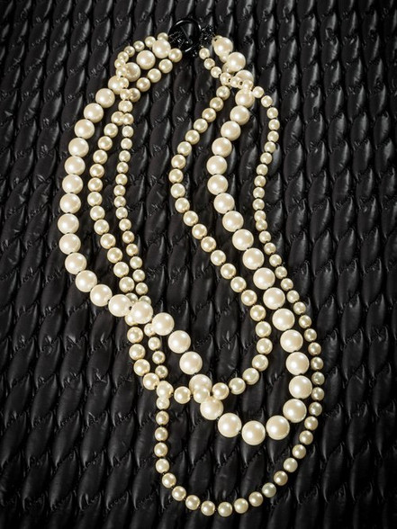 Pat Whyte 3 Strand Large Pearl Grey Neck Piece
