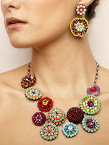 Pat Whyte Multi Colored Crystal Stone Neck-piece