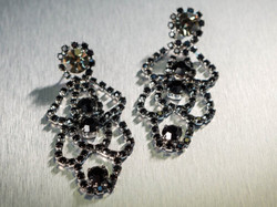 Pat Whyte Long Jet Black Earrings