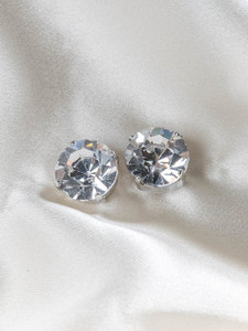 Pat Whyte Small Rivoli Silver Earrings