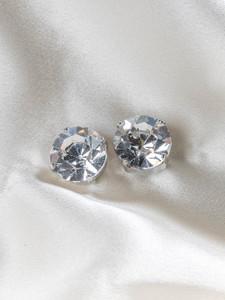 Pat Whyte Small Rivoli Silver Earrings