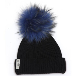 Bobbl Classic Hat Blue with Blue Bobble