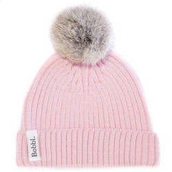 Bobbl Classic Hat Pink with mini grey Bobble