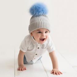 Bobbl Baby Hat Grey