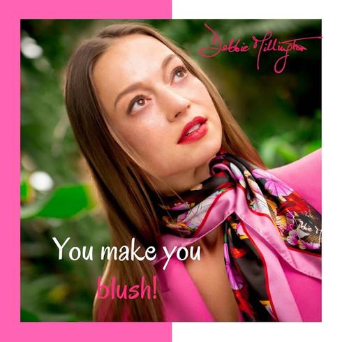 Debbie M Dragons Necktie Pink Scarf Small