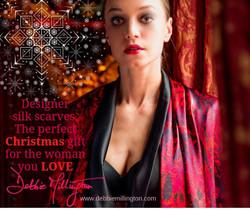 Debbie Millington Rhubarb Square Red