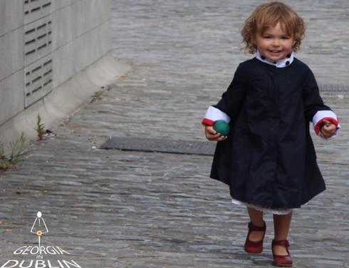 Georgia in Dublin Eppie Child Coat Navy