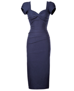 Stop Staring Billion Dollar Baby Navy Dress