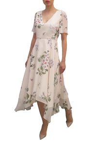 Fee G Soft Print Tea Dress