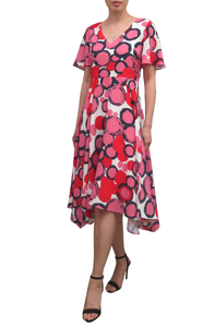 Fee G Bold Print Tea Dress