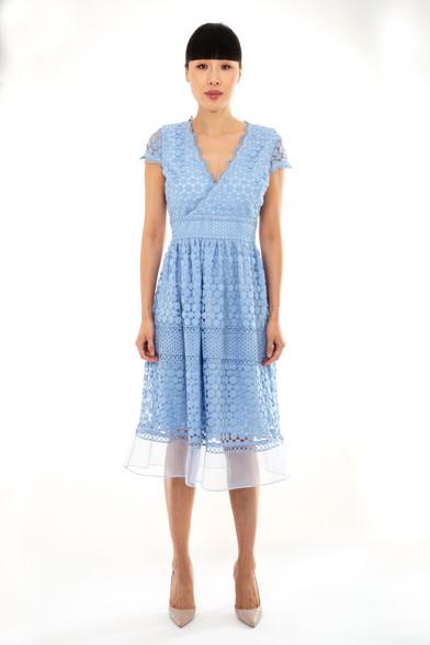 Fee G lace Blue Dress