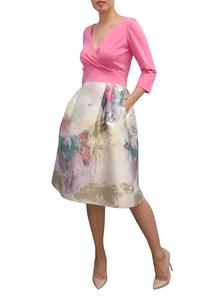 Fee G V Neck Obi Dress 739649 Pink