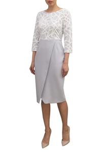 Fee G Cross Over Dress 733644 Grey