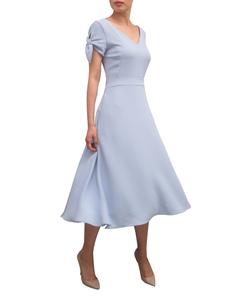 Fee G Tie Sleeve Dress 739746 Blue