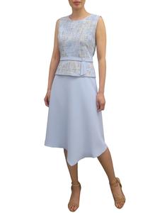 Fee G Tweed Top Dress 738841 Blue
