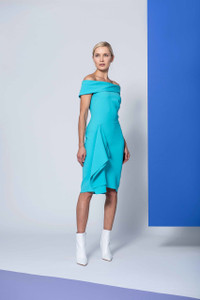 Caroline Kilkenny Turquoise Cruz Dress