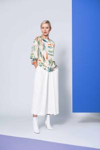 Caroline Kilkenny Cream Bell Trousers