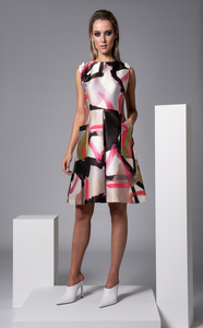 Sisters By CK Abstract Print Foster Dress